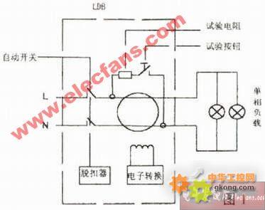 ②电子式漏电保护器,以晶体管放大器作为中间机构,当发生漏电时由